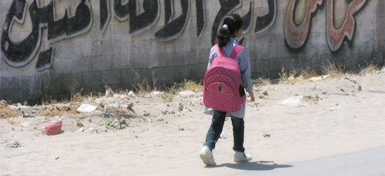 Girl leaves school